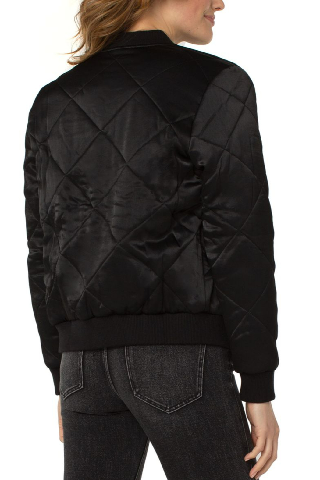 Liverpool  Quilted Bomber Jacket - Front Full Image