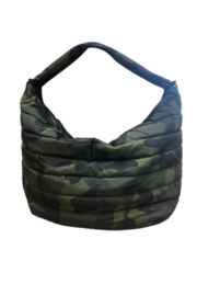 Sondra Roberts Quilted Camo Nylon Hobo - Front cropped