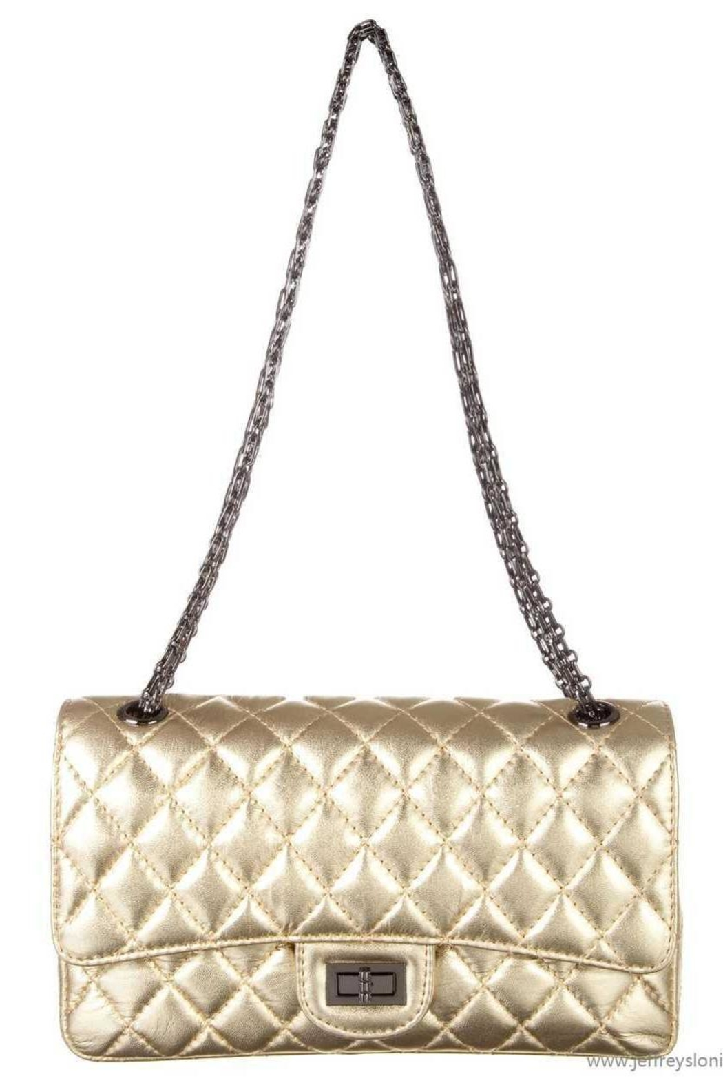Doe a Dear Quilted Chanel-Style Purse - Front Cropped Image