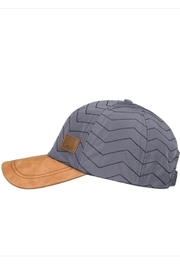 Roxy Quilted Faux-Suede Cap - Front full body