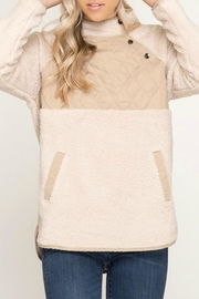 She + Sky Quilted Fleece Pullover - Product Mini Image