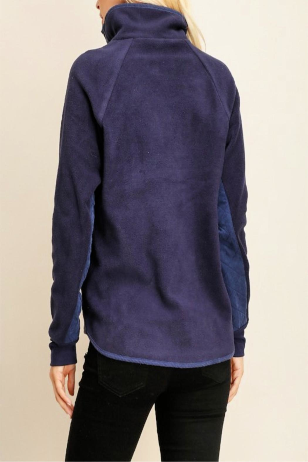 Miss Darlin Quilted Fleece Pullover - Back Cropped Image