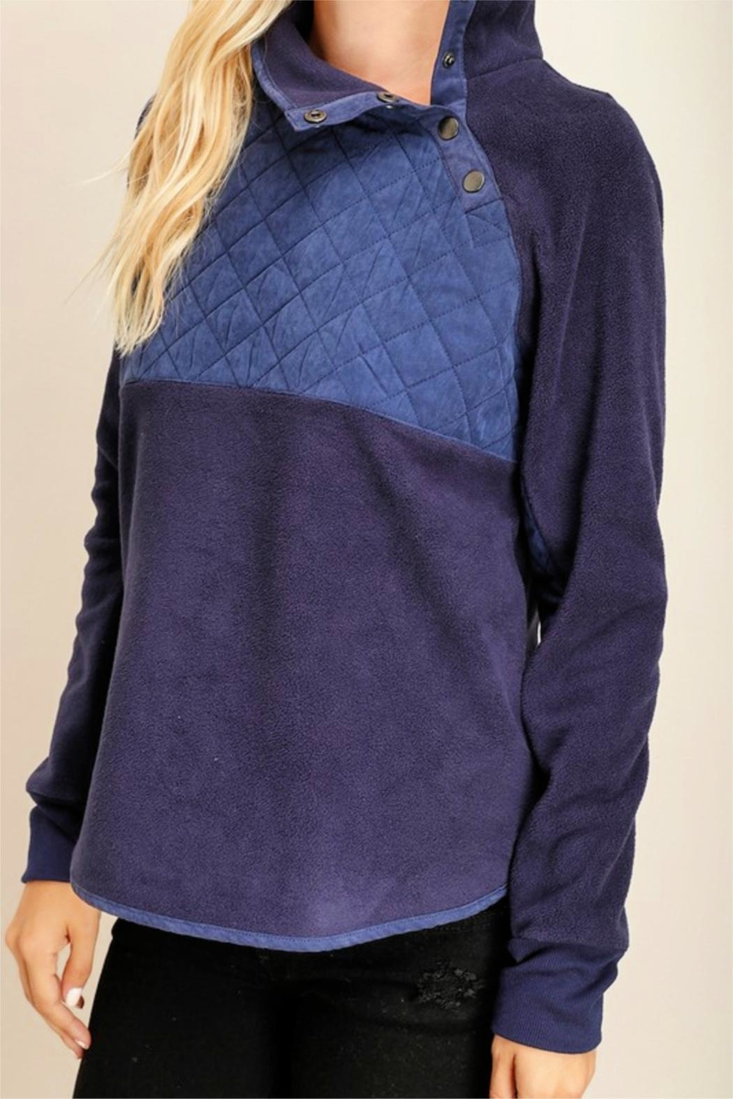 Miss Darlin Quilted Fleece Pullover - Front Full Image