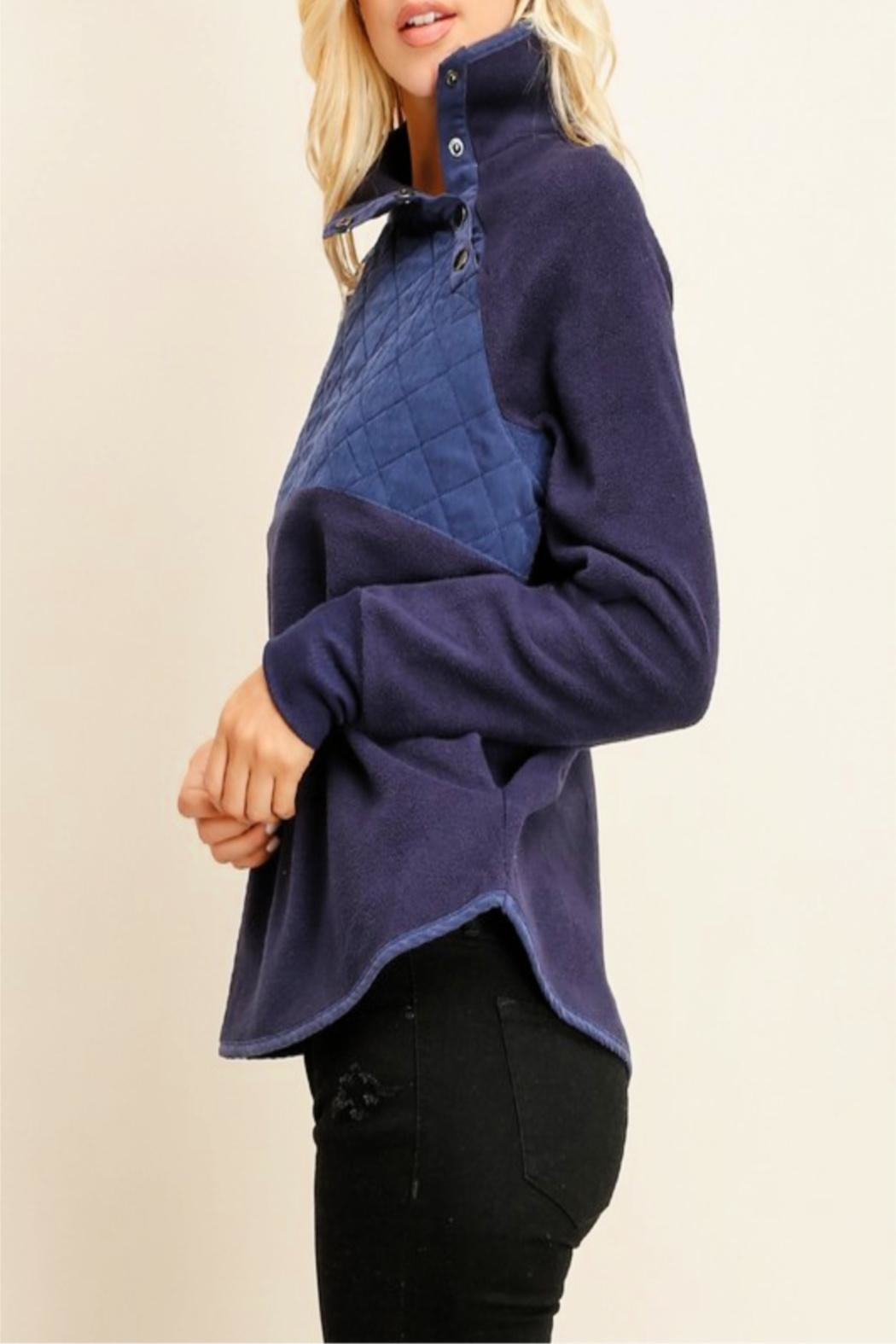 Miss Darlin Quilted Fleece Pullover - Side Cropped Image