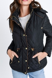 Love Tree Quilted Hoodie Jacket - Product Mini Image