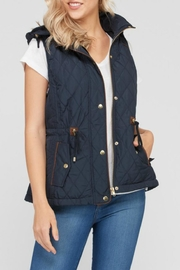 Love Tree Quilted Hoodie Vest - Product Mini Image
