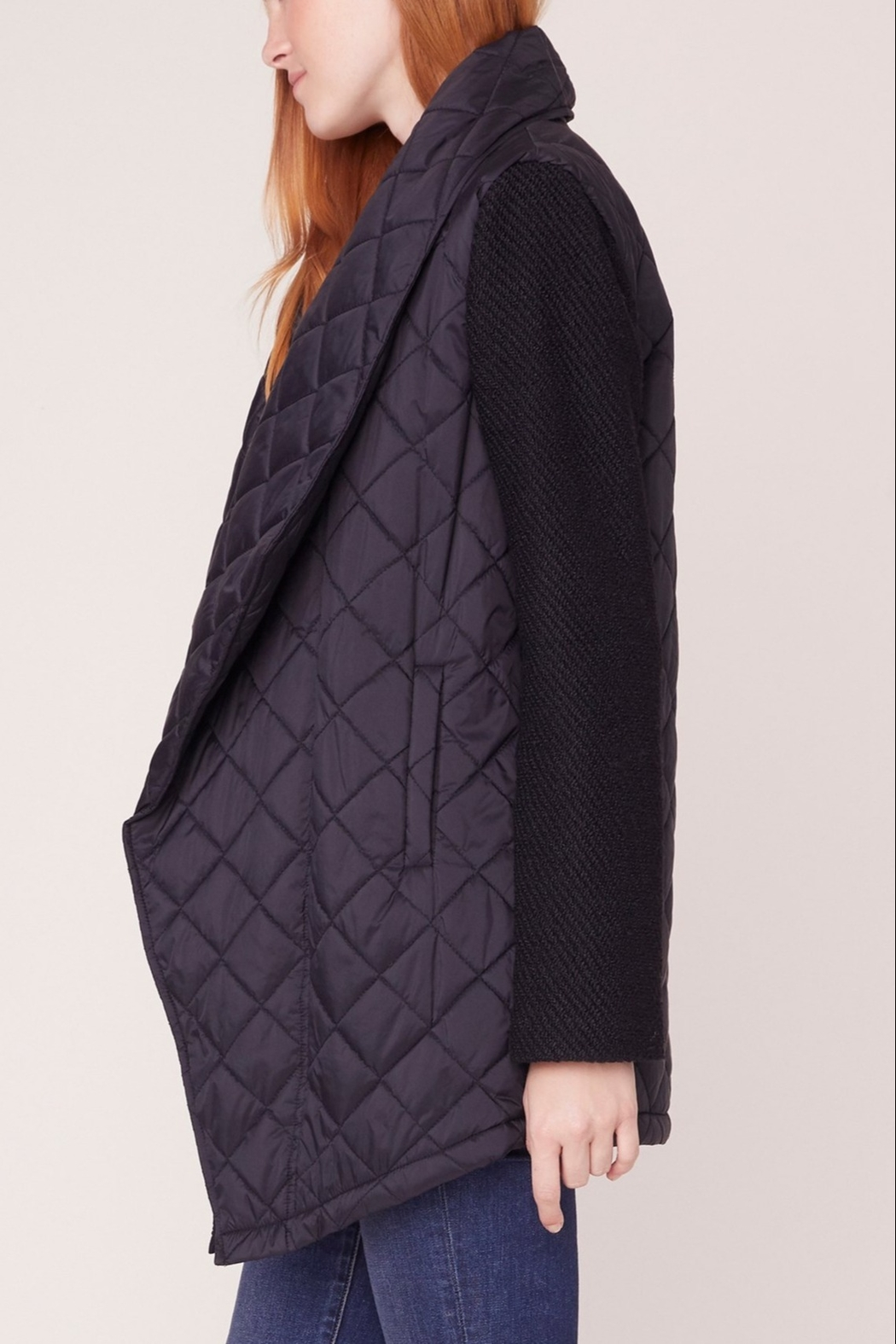 Jack by BB Dakota Quilted Long Jacket - Side Cropped Image