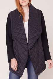 Jack by BB Dakota Quilted Long Jacket - Back cropped