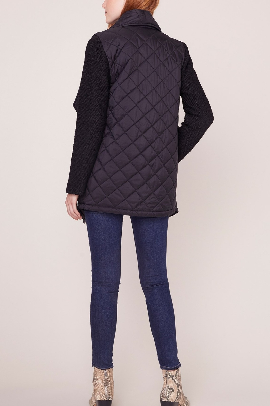 Jack by BB Dakota Quilted Long Jacket - Front Full Image