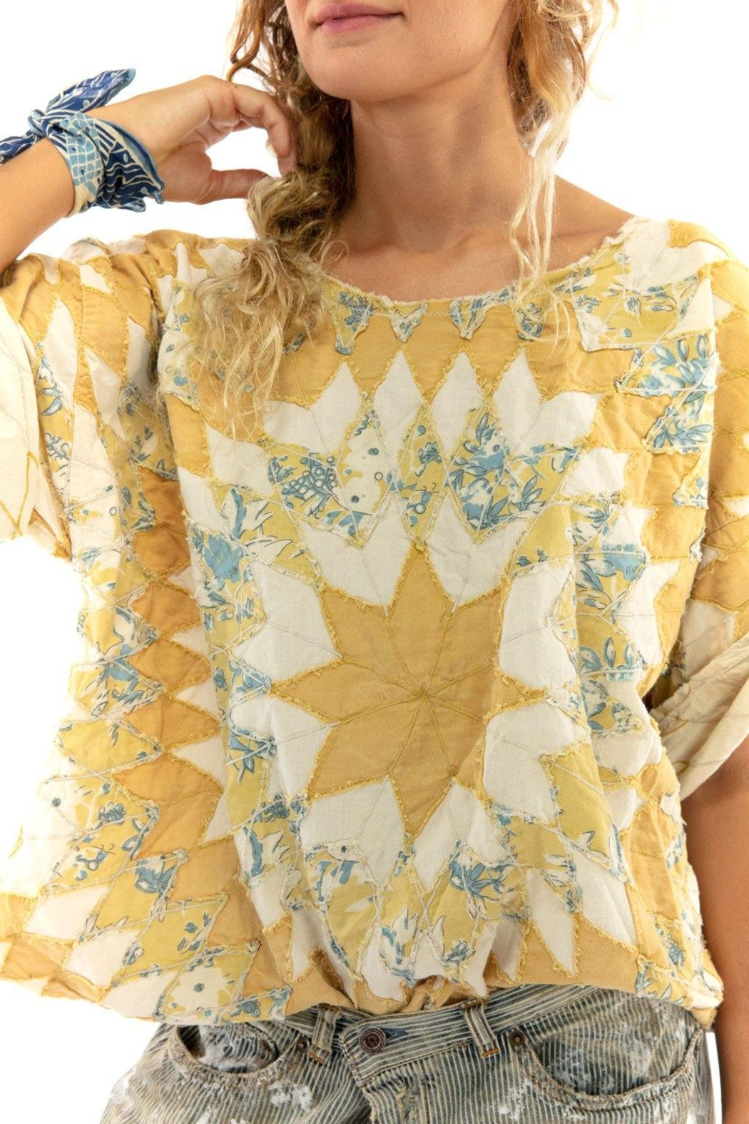 Magnolia Pearl Quilted Matilda Top - Front Full Image