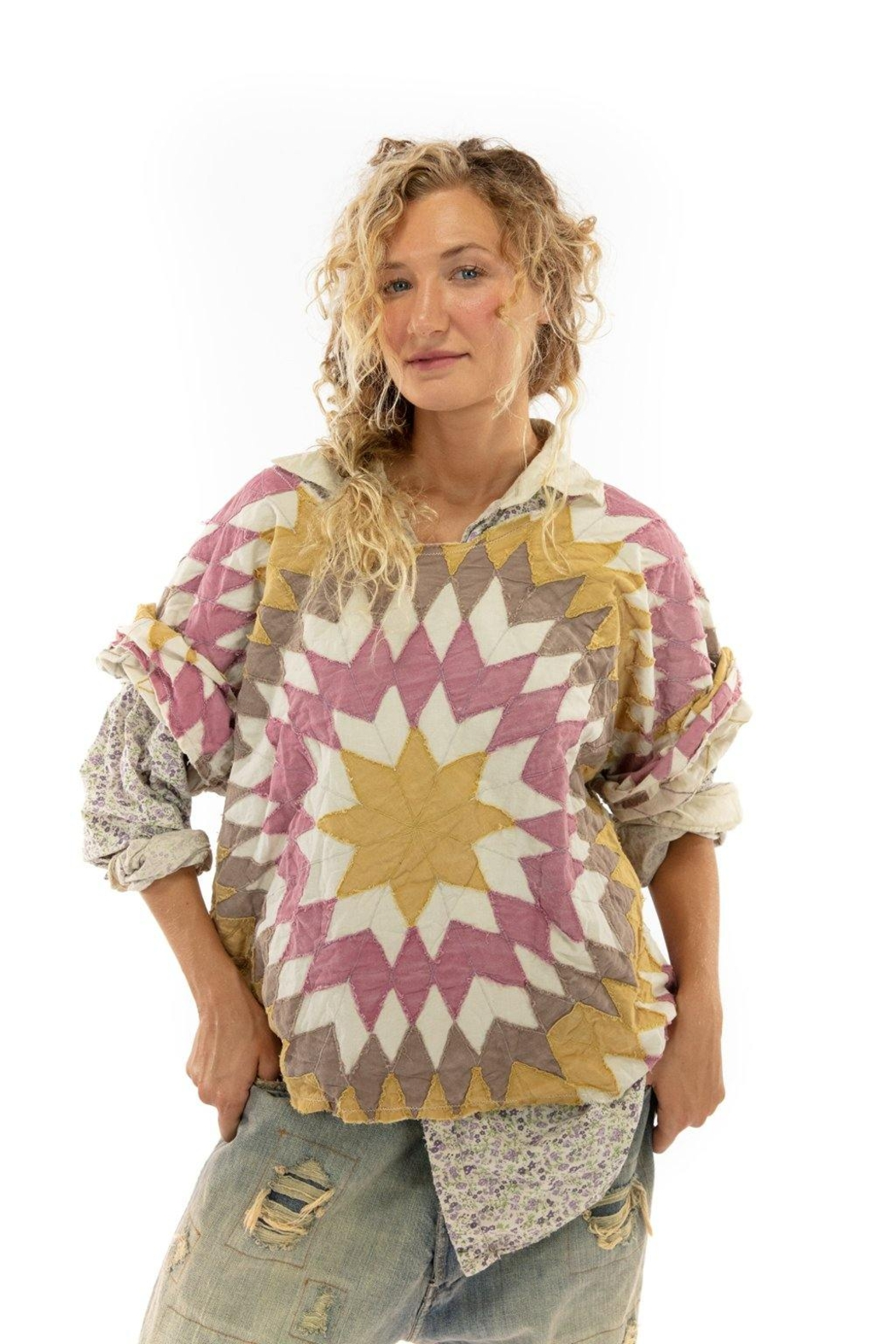 Magnolia Pearl Quilted Matilda Top - Front Cropped Image