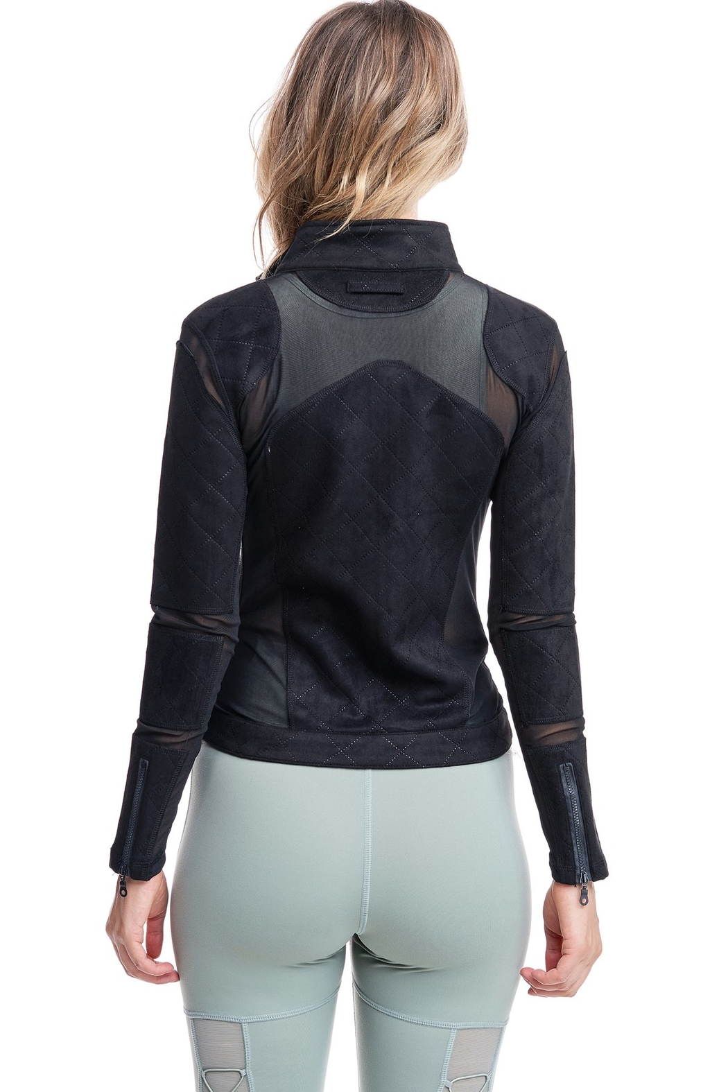 Society Quilted Mesh Jacket - Side Cropped Image