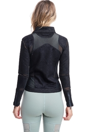 Society Quilted Mesh Jacket - Side cropped