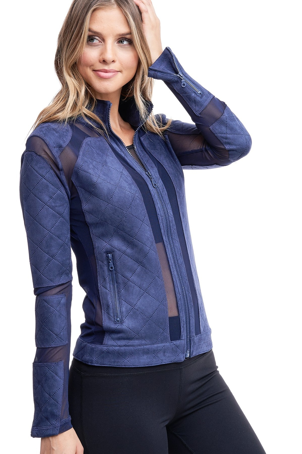Society Quilted Mesh Jacket - Main Image