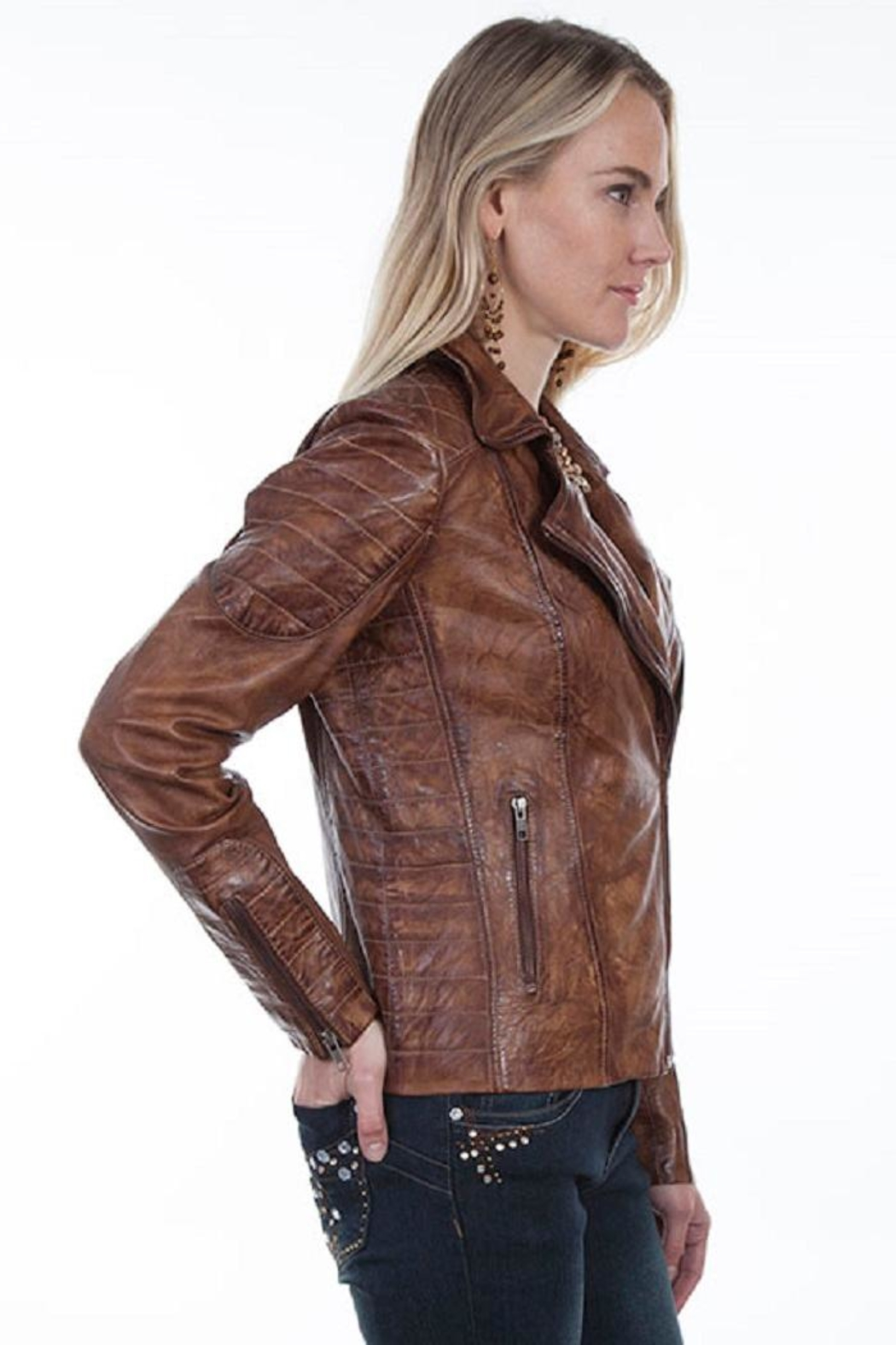 Scully Quilted Moto Jacket - Front Full Image