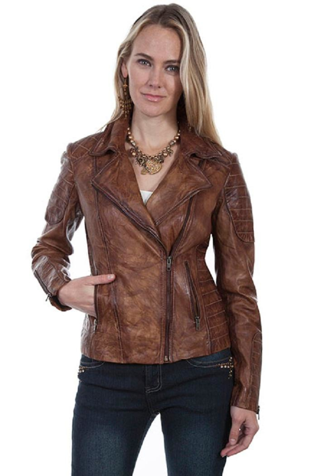 Scully Quilted Moto Jacket - Front Cropped Image