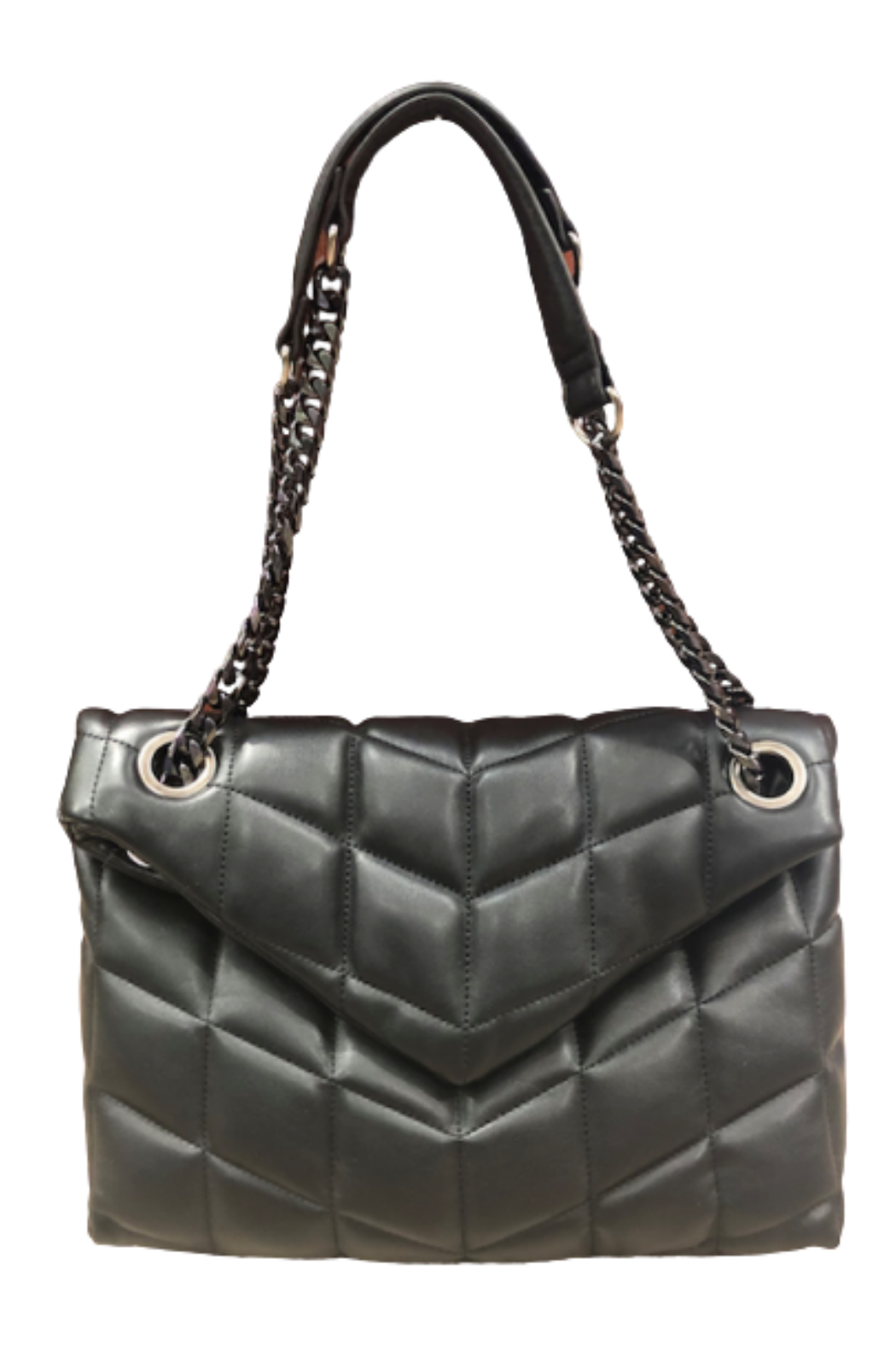 Sondra Roberts Quilted Nappa Flap Crossbody - Front Cropped Image