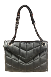 Sondra Roberts Quilted Nappa Flap Crossbody - Product Mini Image