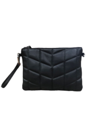 Sondra Roberts Quilted Nappa PU Wristlet/Crossbody - Front cropped