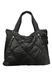 Sondra Roberts Quilted Nylon Puffer Tote - Product Mini Image