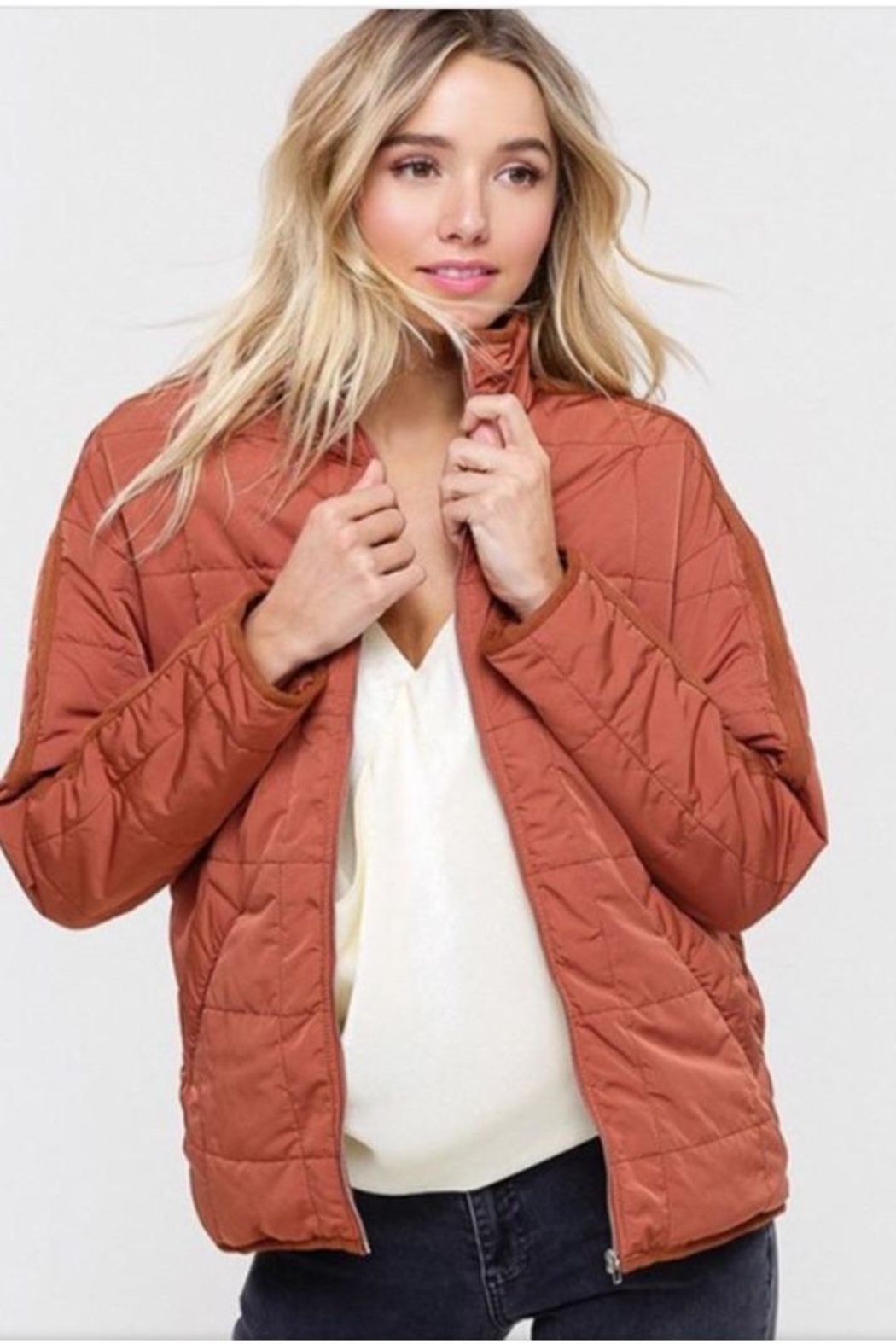 Listicle Quilted Padding Jacket - Main Image