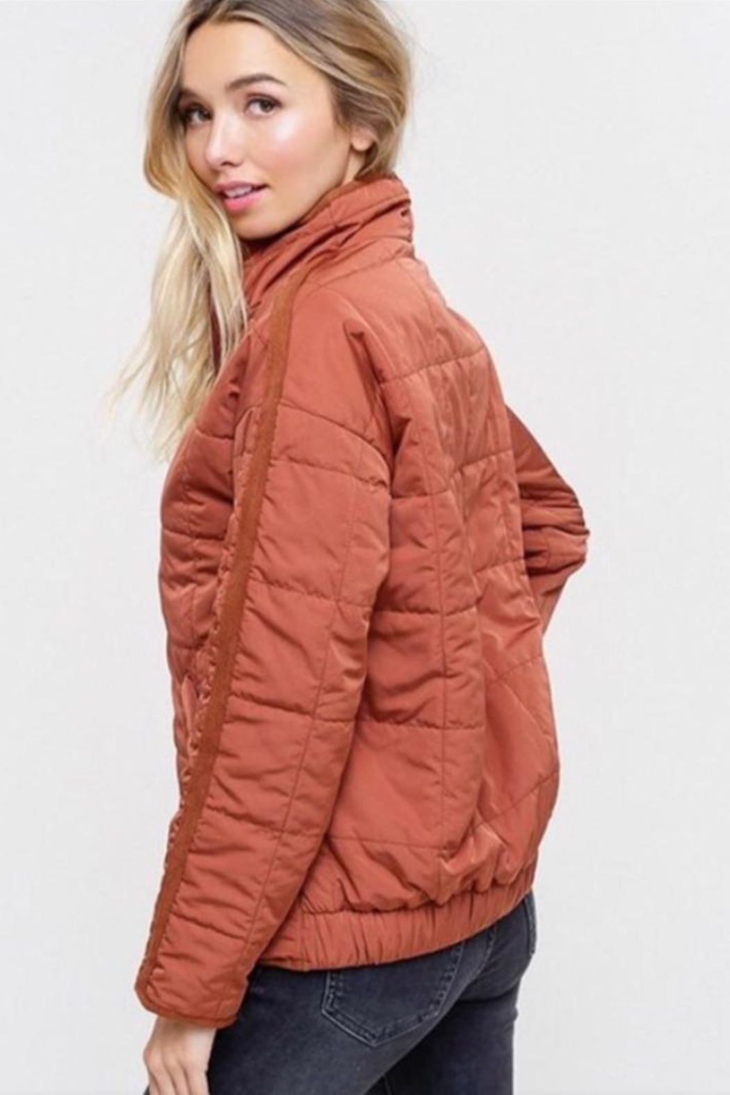 Listicle Quilted Padding Jacket - Front Full Image