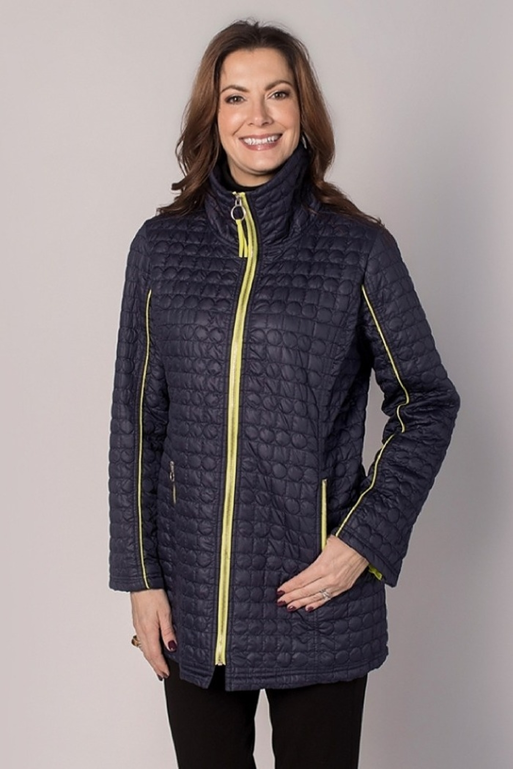 UBU Quilted Piped Jacket - Front Cropped Image