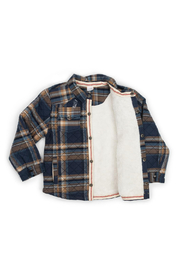 Egg  by Susan Lazar Quilted Plaid Harley Jacket - Front full body