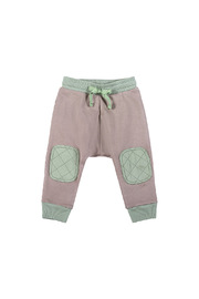 Paper Wings Quilted Pocket Organic Trackies - Front cropped