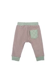 Paper Wings Quilted Pocket Organic Trackies - Front full body