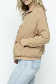 Polagram Quilted Puffer Bomber Jacket - Front full body