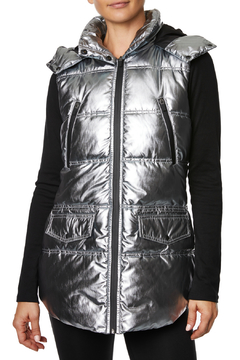 Betsey Johnson Quilted Puffer Vest w Hood - Product List Image