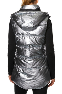 Betsey Johnson Quilted Puffer Vest w Hood - Alternate List Image