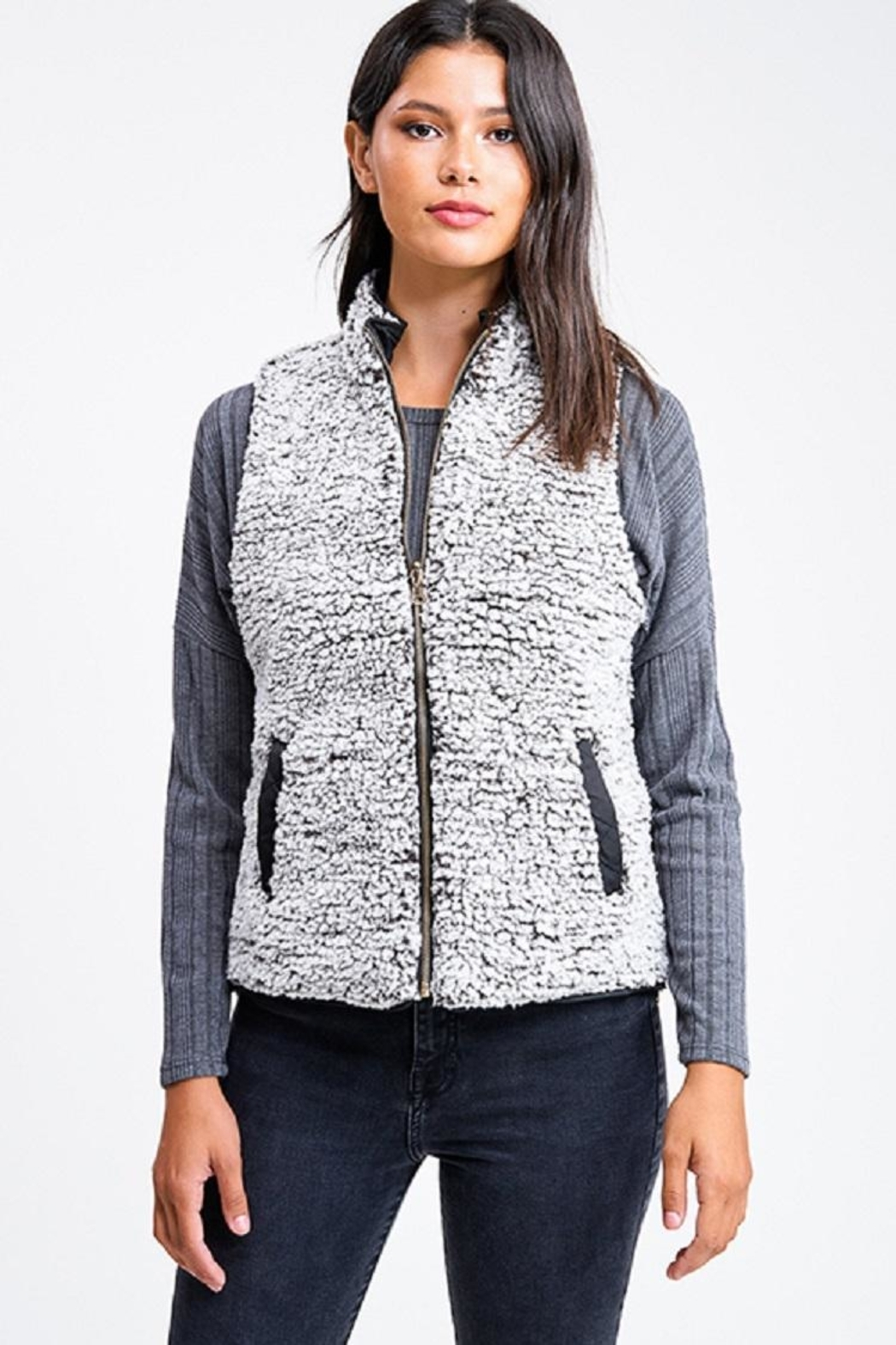 MONTREZ Quilted Reversible Vest - Side Cropped Image