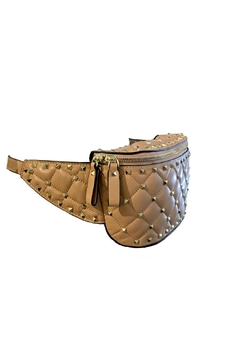 Leather Country Quilted Rockstuds Bag - Alternate List Image