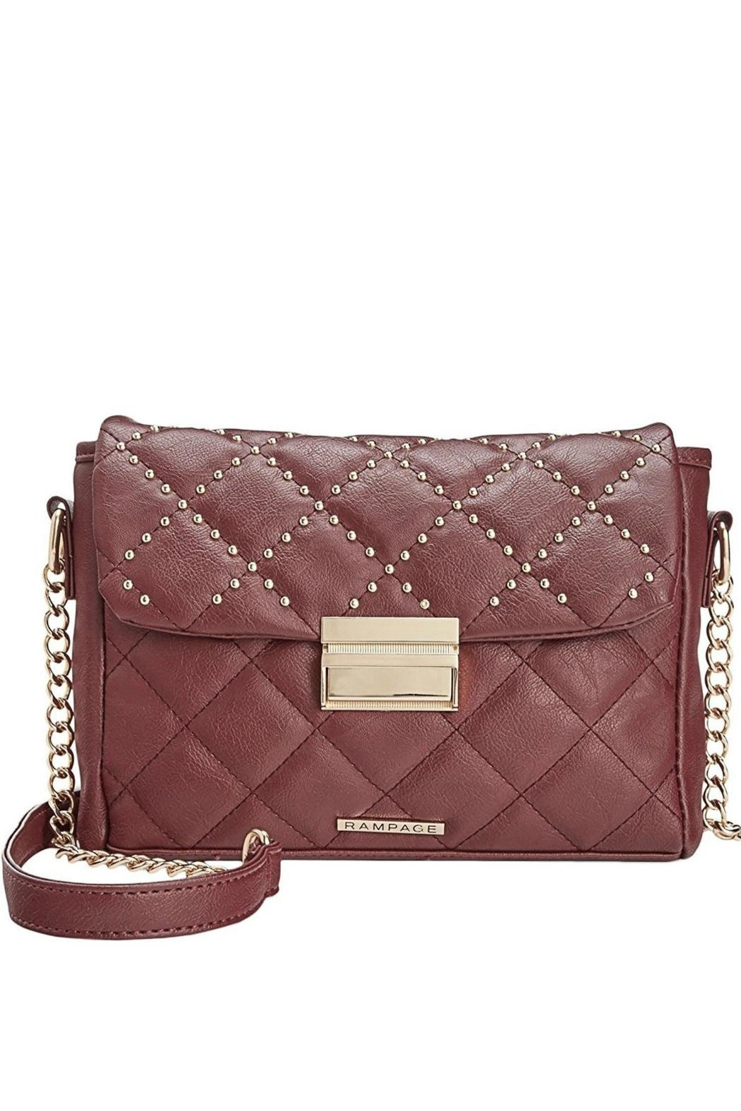 Rampage Quilted Studded Crossbody - Main Image