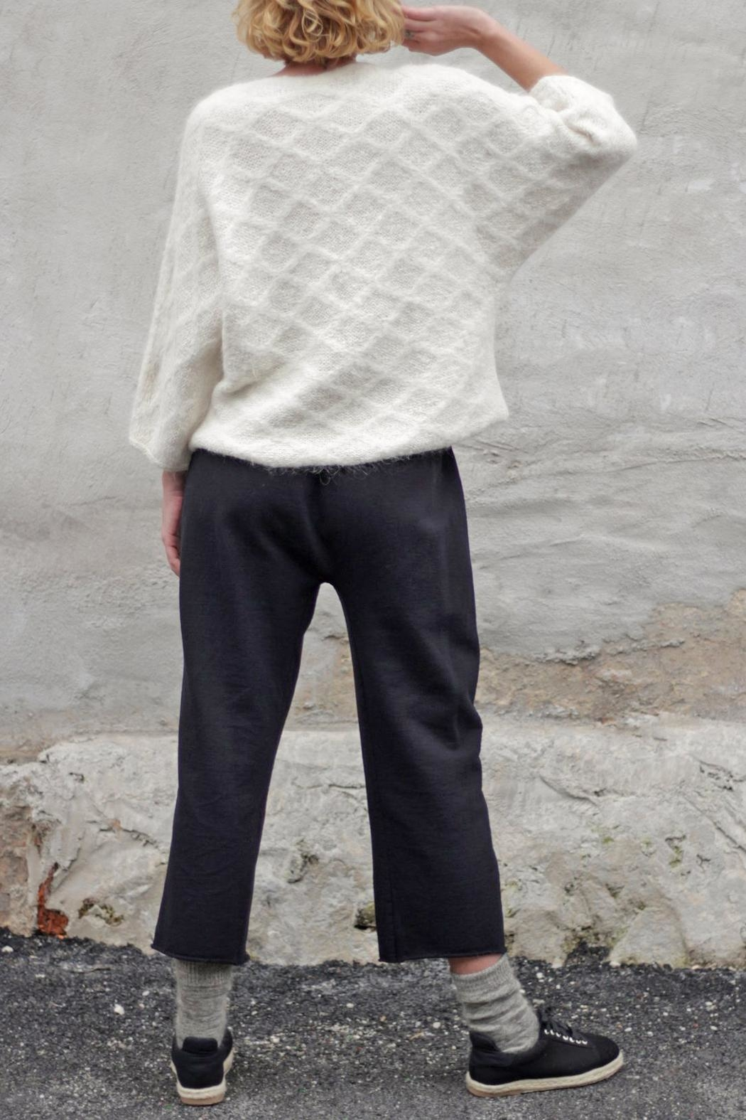 Wol Hide sweaters  Quilted V-Neck Pullover - Back Cropped Image