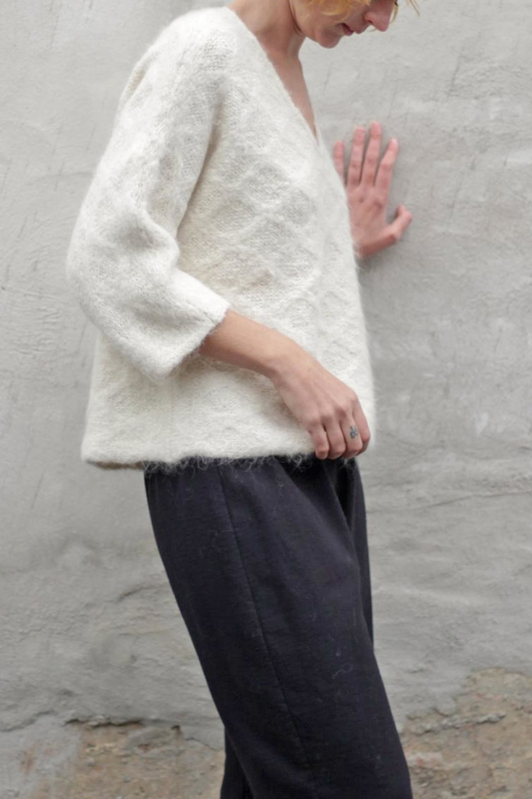 Wol Hide sweaters  Quilted V-Neck Pullover - Main Image