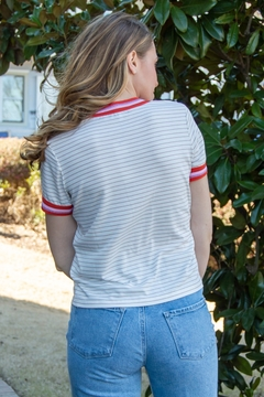 Cupcakes and Cashmere Quily Stripe Tee - Alternate List Image