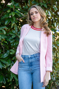 Cupcakes and Cashmere Quily Stripe Tee - Product List Image