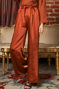 AAKAA Quincey Satin Trouser - Product List Image