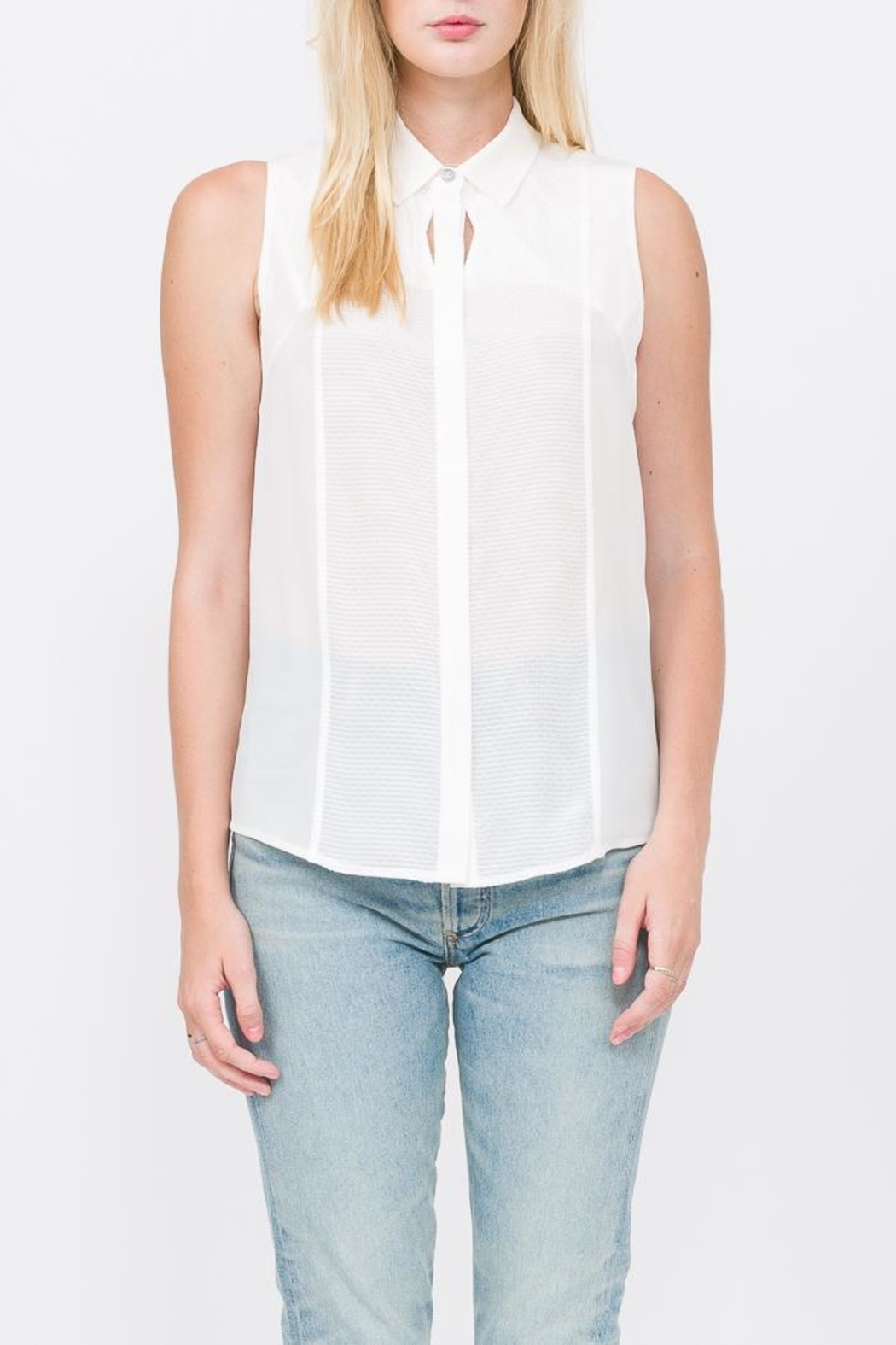 QUINN Chelsea Button Up Top - Front Full Image