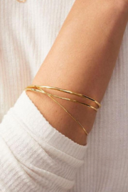 Gorjana Quinn Delicate Bangle Set - Front full body