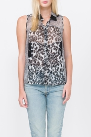 QUINN Animal Print Button Down - Product Mini Image