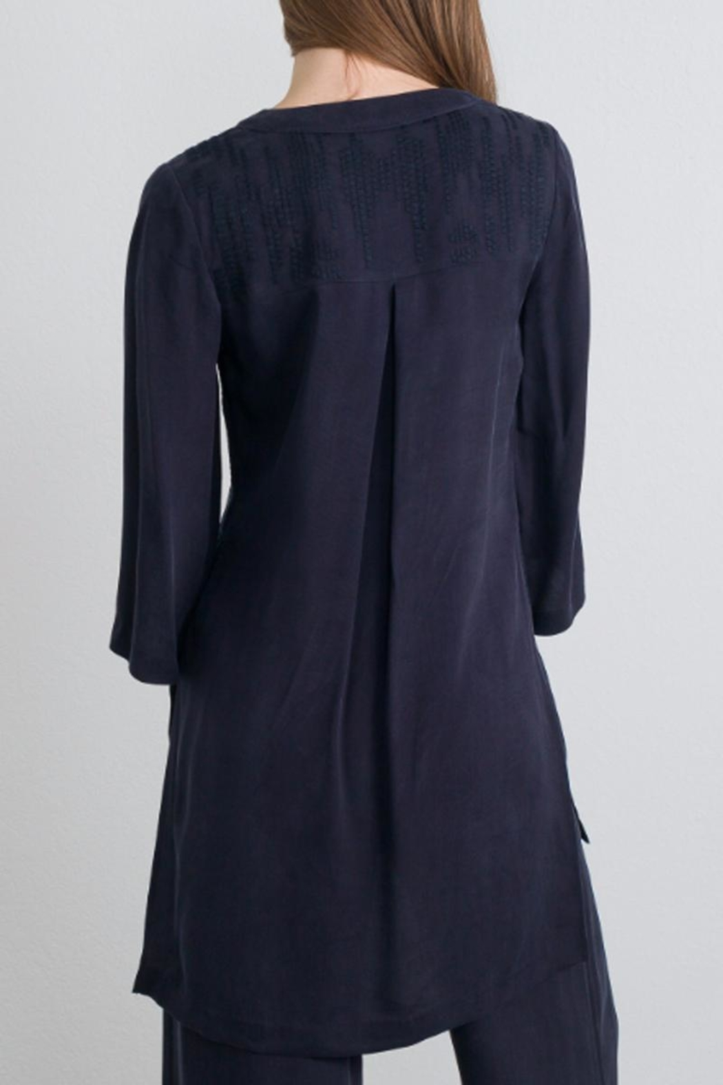 QUINN Embroidered Tunic Top - Front Full Image