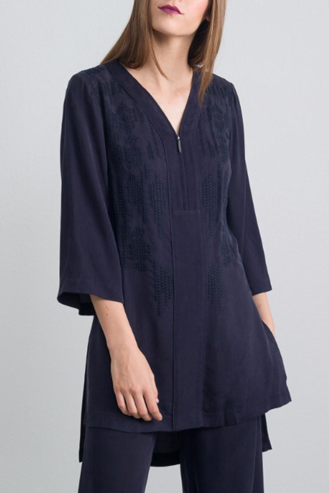QUINN Embroidered Tunic Top - Main Image