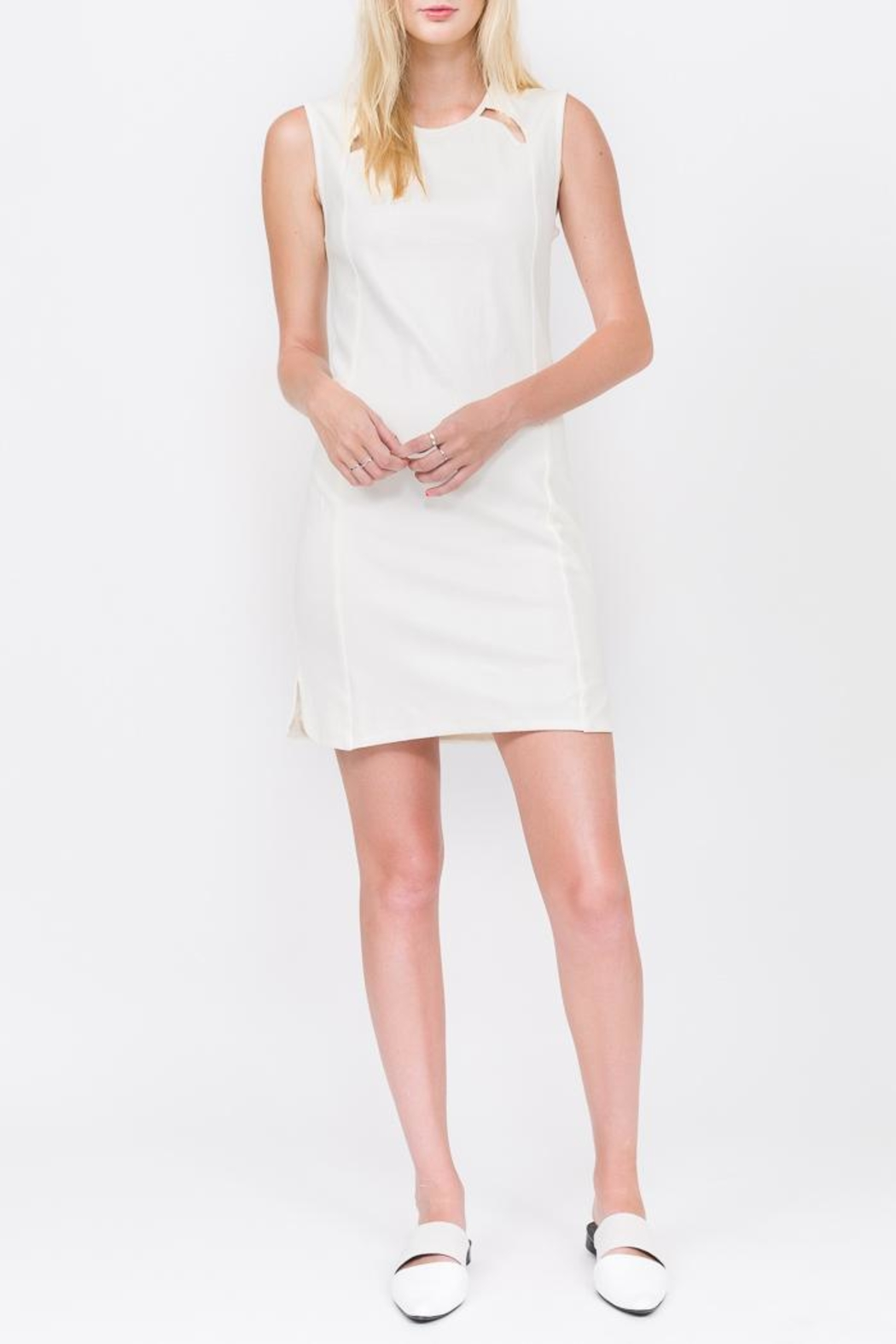 QUINN Fish-Scale Tunic Dress - Front Cropped Image