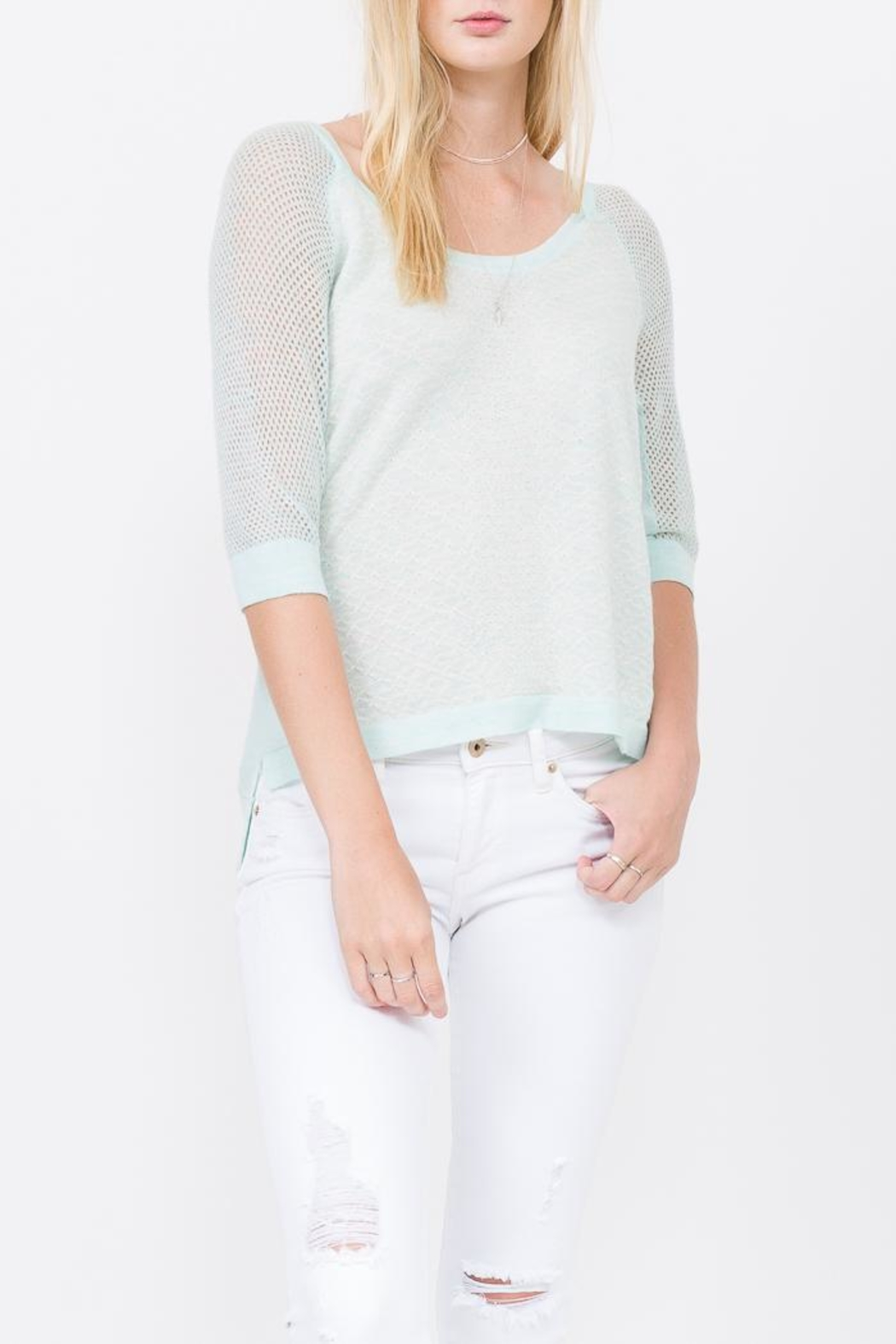 QUINN Grace Panaeled Sweater - Main Image