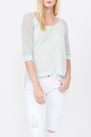 QUINN Grace Panaeled Sweater - Front cropped