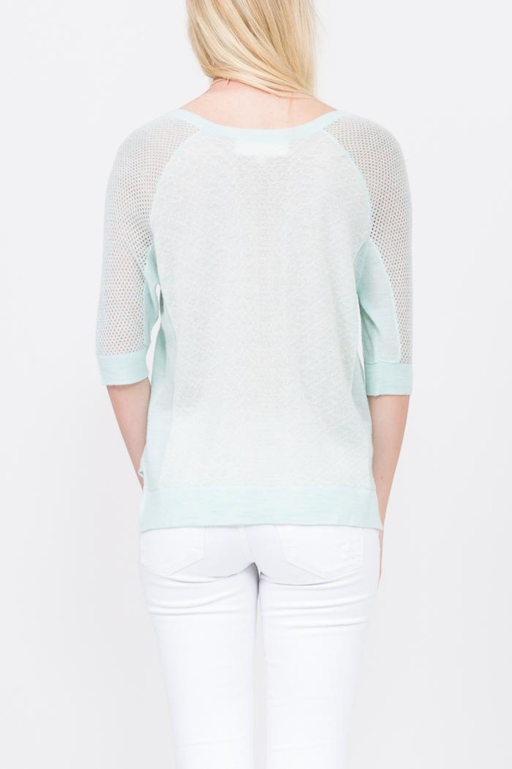QUINN Grace Panaeled Sweater - Side Cropped Image